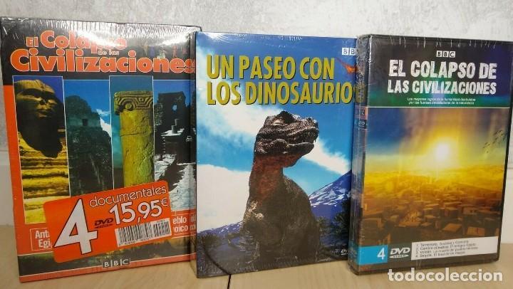 LOTE DE 8 DVDS DOCUMENTALES BBC IMÁGENES ÚNICAS NUNCA ANTES FILMADAS MENÚS ANIMADOS EN 3D (Cine - Folletos de Mano - Documentales)