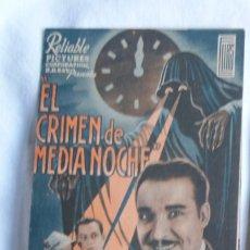 Cine: EL CRIMEN DE MEDIANOCHE RAMON PEREDA KIOSKO ALFONSO AÑOS 30 S123. Lote 198744251
