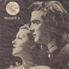 Cine: PROGRAMA DOBLE DE LA CALLE DEL DELFÍN VERDE (1947) - CINE GADES DE CÁDIZ. Lote 198744687