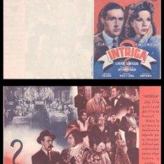 Cine: FOLLETO DE MANO, INTRIGA, BLANCA DE SILOS Y MANOLO MORAN.. Lote 198753890