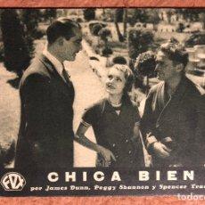 Cine: CHICA BIEN POR JAMES DUNN, PEGGY SHANNON Y SPENCER TRACY. FOX EN ESPAÑOL. AÑOS 30.. Lote 198764495