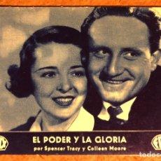 Cine: EL PODER Y LA GLORIA POR SPENCER TRACY Y COLLEAN MOORE. FOX EN ESPAÑOL. AÑOS 30. Lote 198764562