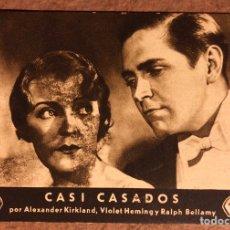 Cine: CASI CASADOS POR ALEXANDER KIRKLAND Y RALPH BELLAMY. PRODUCCIÓN FOX EN ESPAÑOL. AÑOS 30. Lote 198764760