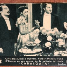 Cine: CABALGATA CON CLIVE BROOK, DIANA WYNYARD,HERBERT MUNDIB Y UNA O'CONNOR. FOX EN ESPAÑOL. AÑOS 30. Lote 198764922