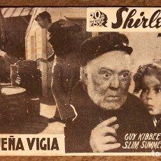 Cine: LA PEQUEÑA VIGÍA CON SHIRLEY TEMPLE, GUY KIBBEE Y SLIM SUMMERVILLE. 20TH CENTURY FOX. AÑOS 30.. Lote 198764976