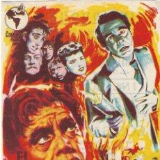 Cine: PROGRAMA DE CINE - EL HIJO DEL DR. JEKYLL - LOUIS HAYWARD - CINE DUQUE (MÁLAGA) - 1951. Lote 198786907