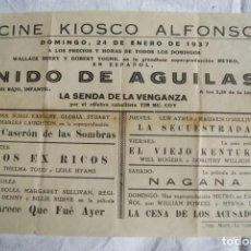 Cine: LOCAL NIDO DE AGUILAS Y VARIAS PELICULAS1937 GRANDE GUERRA CIVIL PATRIOTICO S136. Lote 198820147