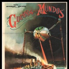 Flyers Publicitaires de films Anciens: FOLLETO DE MANO, LA GUERRA DE LOS MUNDOS, ANN ROBINSON Y GENE BARRY.. Lote 198927347