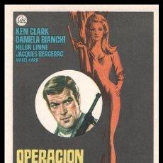 Cine: FOLLETO DE MANO, OPERACION LADY CHAPLIN, KEN CLARK, DANIELA BIANCHI HELGA LINNE Y JACQUES BERGERAC.. Lote 198928696