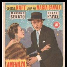 Cine: FOLLETO DE MANO, AMENAZA EN LA KASBAH, GEORGE RAFT, GIANNA MARIA CANALE, MASSIMO SERATO Y IRENE PAP. Lote 198930125