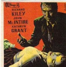 Foglietti di film di film antichi di cinema: PROGRAMA DE CINE - EL IMPERIO DEL TERROR - RICHARD KILEY, KATHRYN GRANT - CINE ECHEGARAY (MÁLAGA) . Lote 198931565