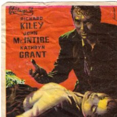 Flyers Publicitaires de films Anciens: PROGRAMA DE CINE - EL IMPERIO DEL TERROR - RICHARD KILEY, KATHRYN GRANT - CINE ECHEGARAY (MÁLAGA) . Lote 198931963
