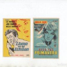 Cine: LLAMA UN TAL ESTEBAN-LUZ MARQUEZ, AYER FUÉ PRIMAVERA-ANALIA GADE. Lote 198975770