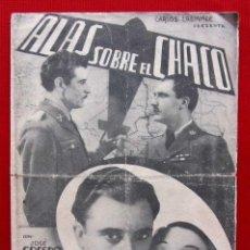 Cine: PROGRAMA DOBLE. ALAS SOBRE EL CHACO.JOSÉ CRESPO. LUPITA TOVAR. COLISEO CASTILLA. BURGOS. . Lote 198984510