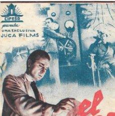 Cine: PROGRAMA DOBLE - EL MUNDO TEMBLARÁ - CLAUD DAUPHIN, ERIC VON STROHEIM - CIFESA - CINE ALKÁZAR 1944. Lote 199036248