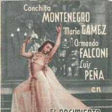 Folhetos de mão de filmes antigos de cinema: PROGRAMA DOBLE - EL NACIMIENTO DE SALOMÉ - CONCHITA MONTENEGRO - TEATRO PRINCIPAL (MÁLAGA) - 1940.. Lote 199036792