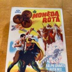Cine: ANTIGUO PROGRAMA FOLLETO CINE LA MONEDA ROTA HOMBRES PELIGROSOS 1A PRIMERA JORNADA . Lote 199077988