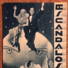 Cine: ESCÁNDALOS DE 1935 (JAMES DUN , ALICE FAYE, NED SPARKS,...). FOLLETO DE MANO FOX ESPAÑOL.. Lote 199082835