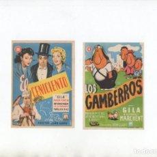Cine: DOS PROGRAMAS DE MANO ORIGINALES DE GILA. Lote 199087522