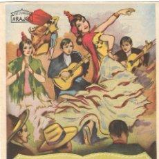 Cine: PROGRAMA DE CINE - EL RELICARIO - NIEVES ALIAGA, JOSÉ ALCAZABA - CINE DUQUE (MÁLAGA) - 1927.. Lote 199095088