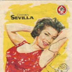 Flyers Publicitaires de films Anciens: PROGRAMA DE CINE - EL SECRETO DE MÓNICA - CARMEN SEVILLA, ADOLFO MARSILLACH - CINE LOPE DE VEGA 1962. Lote 199112623