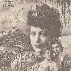 Flyers Publicitaires de films Anciens: PROGRAMA DOBLE - EL SUEÑO DE BUTTERFLY - MARÍA CEBOTARY - CINE ECHEGARAY (MÁLAGA) - 1939.. Lote 199137877