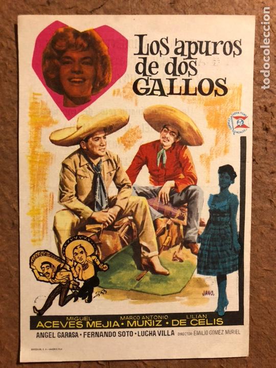 LOS APUROS DE DOS GALLOS. FOLLETO DE MANO ESTRENO EN EL ARRIAGA DE BILBAO EN 1964. (Cine - Folletos de Mano - Westerns)