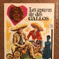 Cine: LOS APUROS DE DOS GALLOS. FOLLETO DE MANO ESTRENO EN EL ARRIAGA DE BILBAO EN 1964.. Lote 199143371