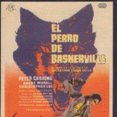 Cine: PROGRAMA SENCILLO DE EL PERRO DE BASKERVILLE (1959) - CINE CENTRO ARBÓS DE EL VENDRELL. Lote 199171156