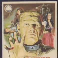 Cine: PROGRAMA SENCILLO DE EL HORROR DE FRANKENSTEIN (1973) - CINE VICTORIA. Lote 199171945