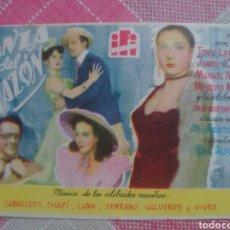 Cine: TONY LEBLANC PROGRAMA DE MANO DE LA PELÍCULA LA DANZA DEL CORAZON. Lote 199212076