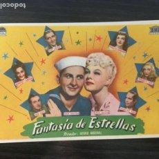 Cine: FANTASÍA DE ESTRELLAS - PROGRAMA DE CINE BADALONA C/P 1947. Lote 199229462