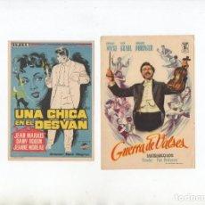 Cine: DOS PROGRAMAS DE MANO ORIGINALES DEL CINE EUROPEO. Lote 199268818