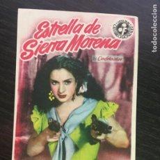 Cine: ESTRELLA DE SIERRA MORENA - LOLA FLORES - PROGRAMA DE CINE - C/P BADALONA. Lote 199310935