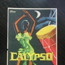 Cine: CALYPSO - PROGRAMA DE CINE - C/P BADALONA 1960. Lote 199321330