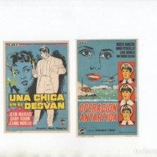 Cine: UN CHICA EN EL DESVAN-JEAN MARAIS, OPERACIÓN ANTARTIDA-DUILIO MARZIO. Lote 199346216