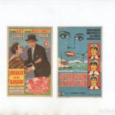 Cine: DOS PROGRAMAS DE MANO ORIGINALES DEL CINE EUROPEO. Lote 199347078