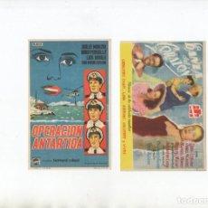 Cine: DOS PROGRAMAS DE MANO ORIGINALES DEL CINE DRAMA. Lote 199349533