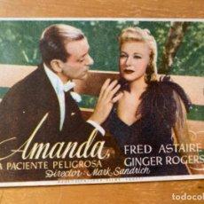 Cine: ANTIGUO PROGRAMA FOLLETO CINE AMANDA FRED ASTAIRE . Lote 199373882