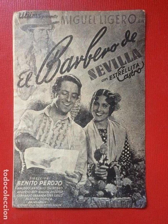 FOLLETO MANO CINE IMPERIO EL BARBERO DE SEVILLA ESTRELLITA CASTRO M LIGERO ESPAÑA AÑOS 40 (Cine - Folletos de Mano - Clásico Español)