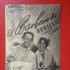 Cine: FOLLETO MANO CINE IMPERIO EL BARBERO DE SEVILLA ESTRELLITA CASTRO M LIGERO ESPAÑA AÑOS 40. Lote 199379556