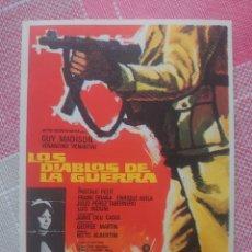 Cine: GUY MADISON PROGRAMA DE MANO DE LA PELÍCULA LOS DIABLOS DE LA GUERRA. Lote 199423886
