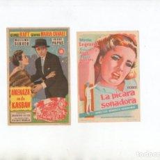 Cine: AMENAZA EN LA KASBAH-GEORGE RAFT, LA PÍCARA SOÑADORA-MIRTHA LEGRAND. Lote 199448847