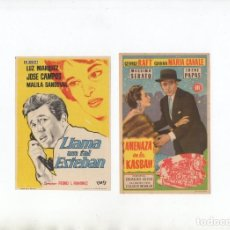 Cine: LLAMA UN TAL ESTEBAN-LUZ MARQUEZ, AMENAZA EN LA KASBAH-GEORGE RAFT. Lote 199449298