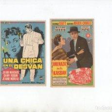 Cine: AMENAZA EN LA KASBAH-GEORGE RAFT, UNA CHICA EN EL DESVAN-JEAN MARAIS. Lote 199450021