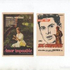 Cine: LOS COBARDES-VICENTE PARRA, AMOR IMPOSIBLE-CORNELL BORCHERS. Lote 199555201