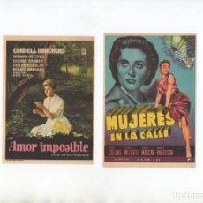 Cine: AMOR IMPOSIBLE-CORNELL BORCHERS, MUJERES EN LA CALLE-JOAN COLLINS. Lote 199559367