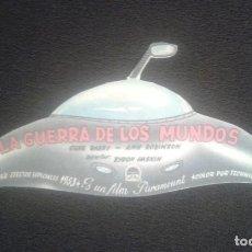 Cine: LA GUERRA DE LOS MUNDOS. PROGRAMA DE MANO DE CINE. TROQUELADO. CINEMA GOYA. GENE BARRY. BYRON HASKIN. Lote 199628143