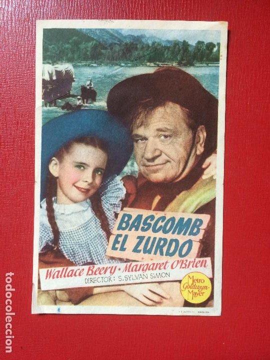 ANTIGUO FOLLETO PELÍCULA BASCOMB EL ZURDO W BEERY M O´BRIEN GRAN CINEMA METRO G MAYER 1948 (Cine - Folletos de Mano - Westerns)