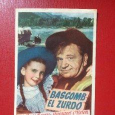 Cine: ANTIGUO FOLLETO PELÍCULA BASCOMB EL ZURDO W BEERY M O´BRIEN GRAN CINEMA METRO G MAYER 1948. Lote 199640643